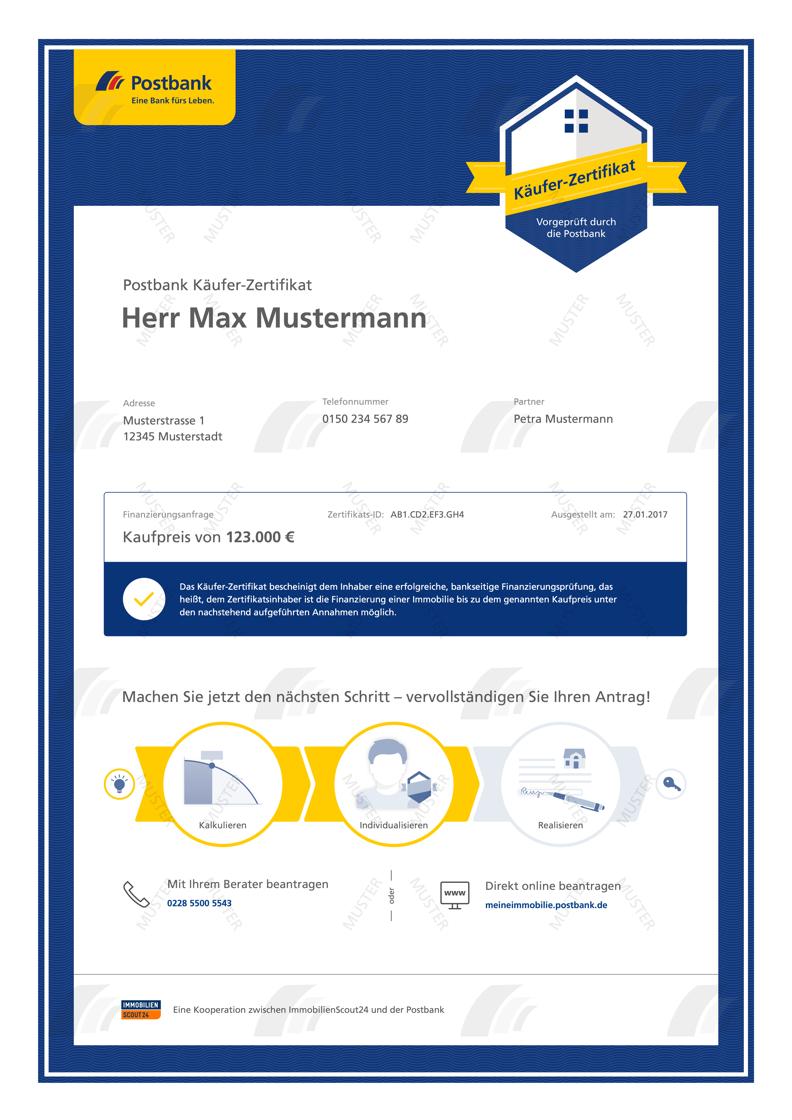 Käufer-Zertifikat Postbank