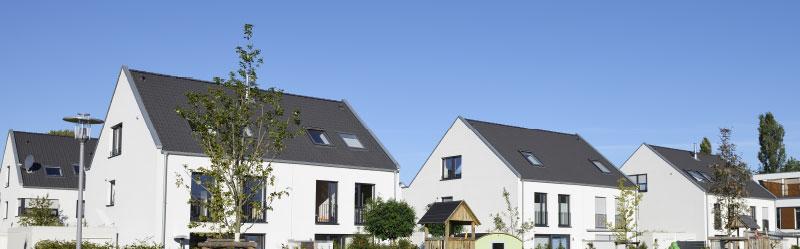 Doppelhaushälfte Zwei Häuser Mit Einer Gemeinsamen Wand
