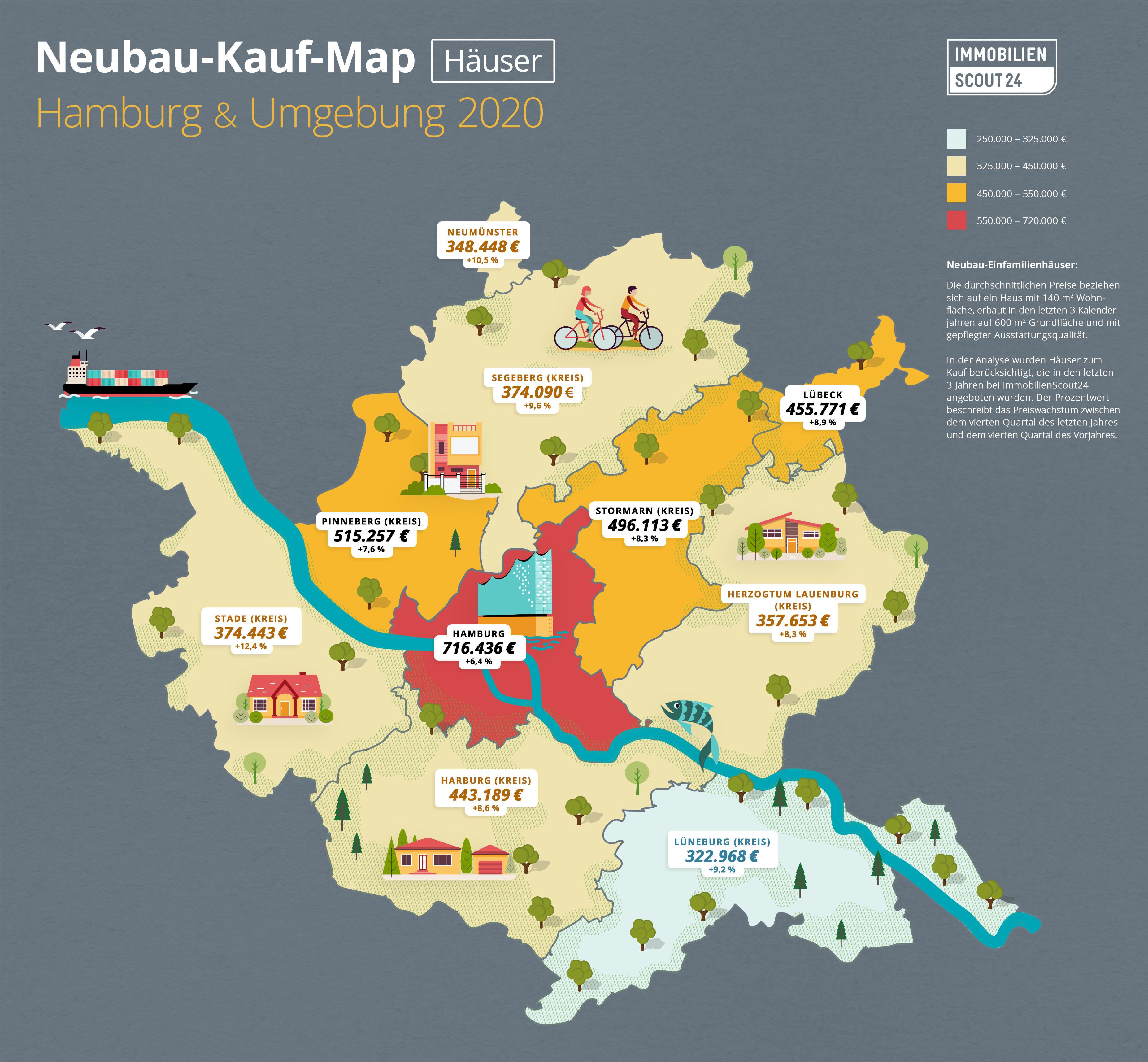 karte hamburg umland Hauspreise in Hamburg – Immobilienpreise 2020