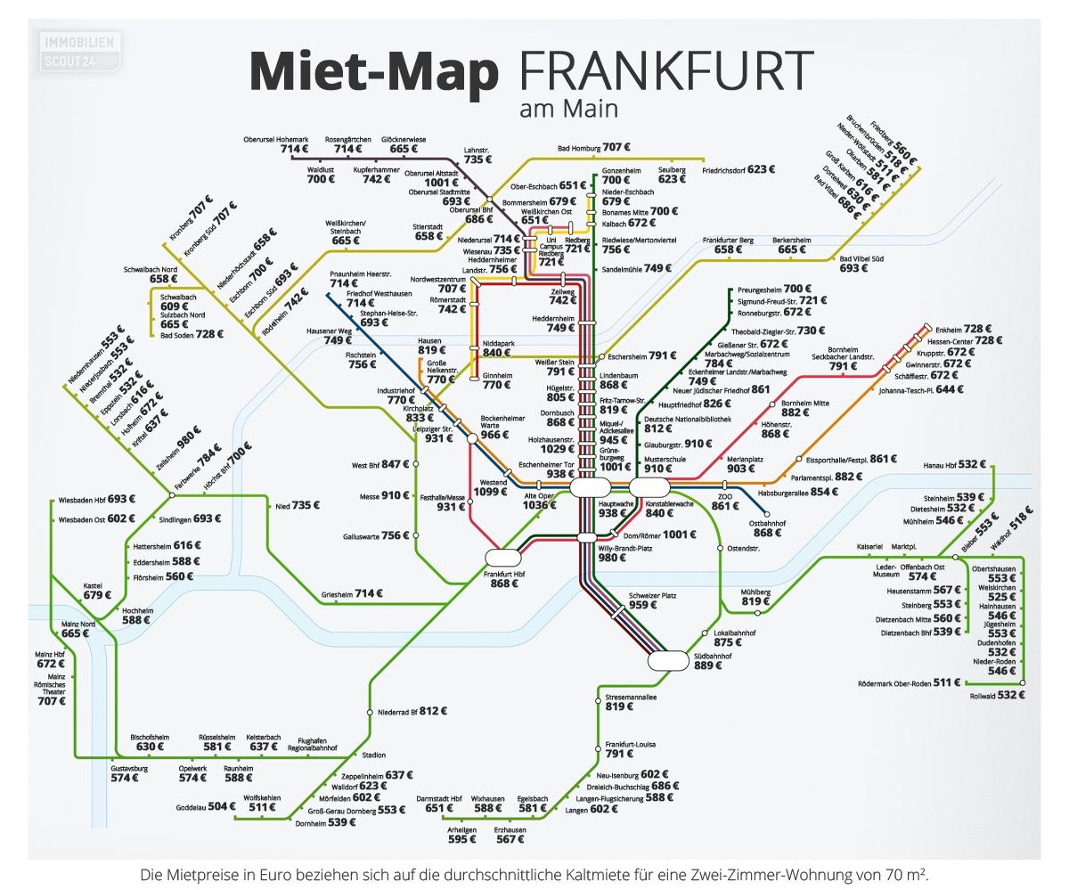 Miet-Map Frankfurt