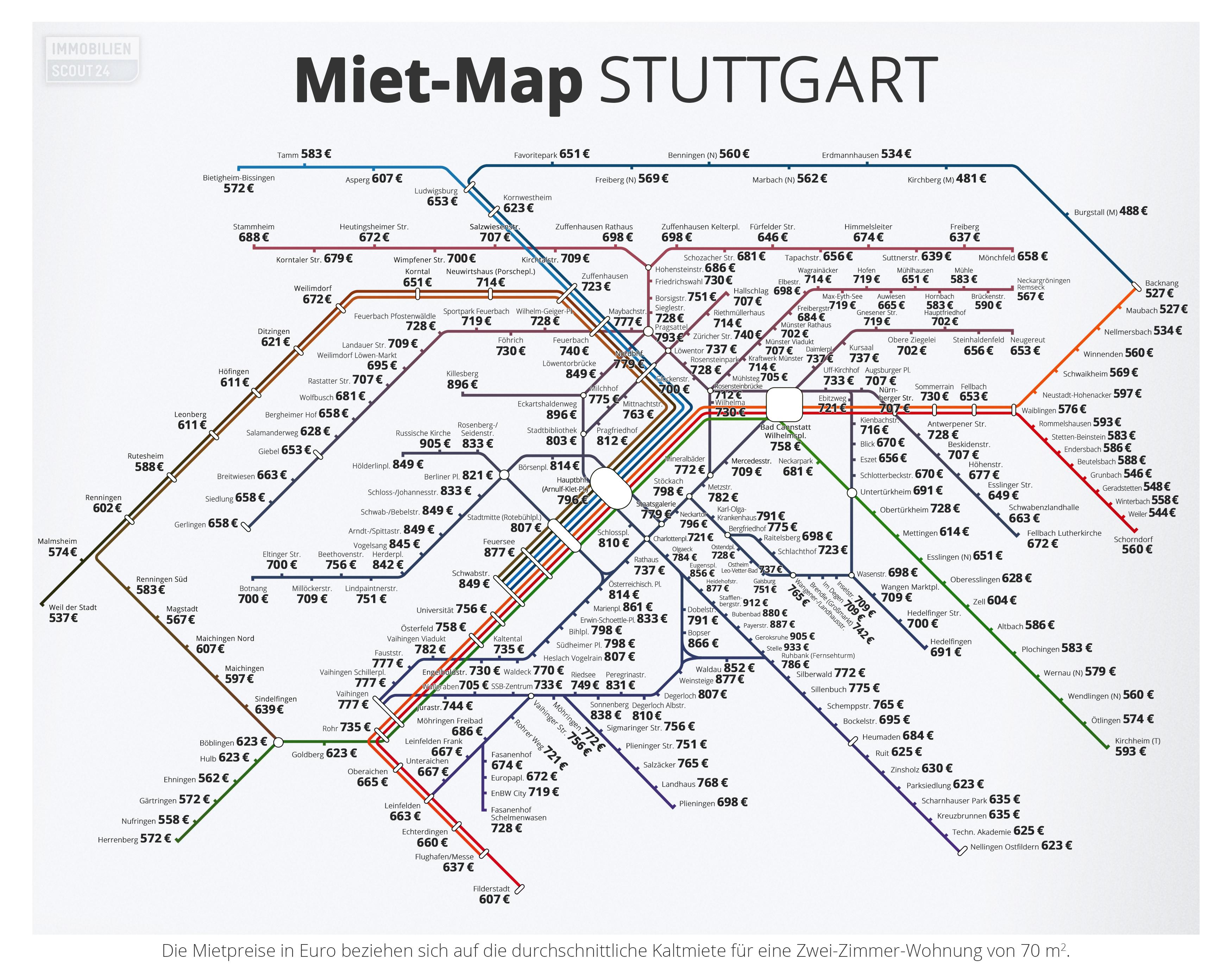 Miet-Map Stuttgart