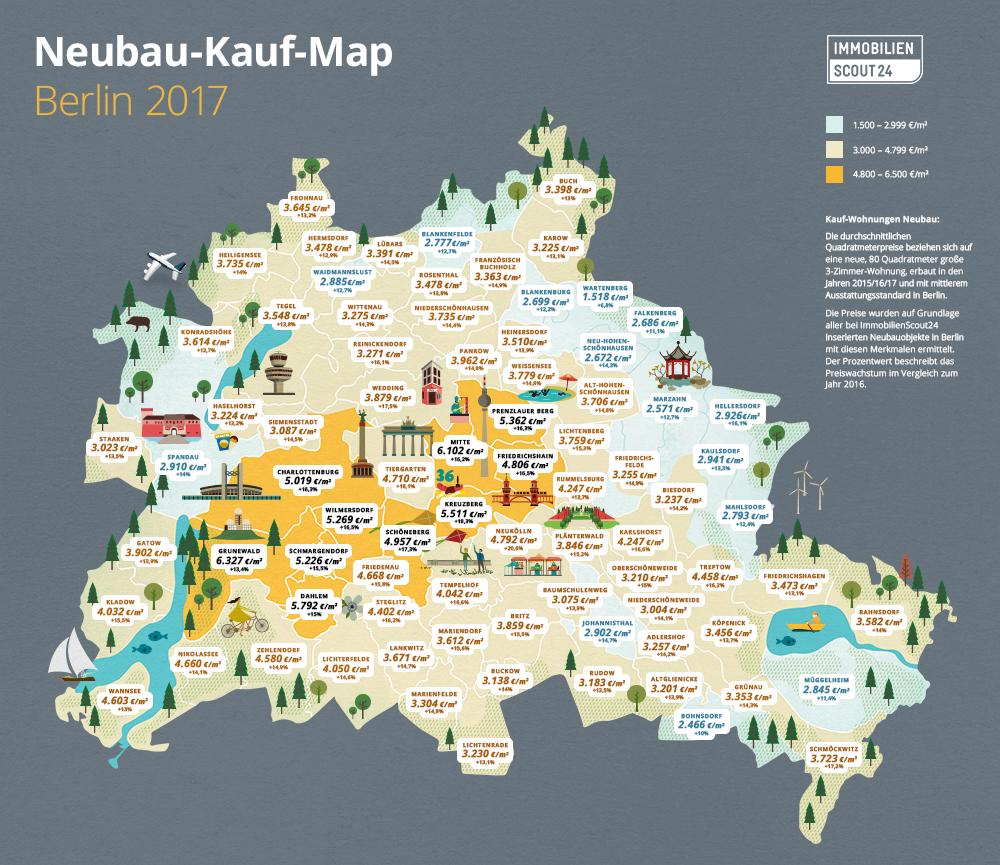 Neubau-Kauf-Map Berlin 2017