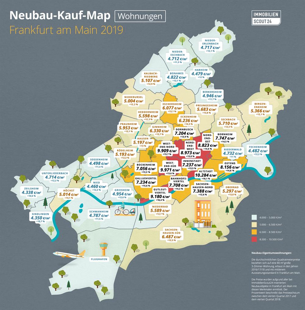 Neubau-Kauf-Map Wohnungen Frankfurt 2019
