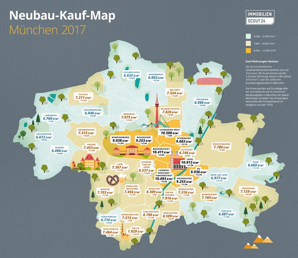 Neubau-Kauf-Map München 2017