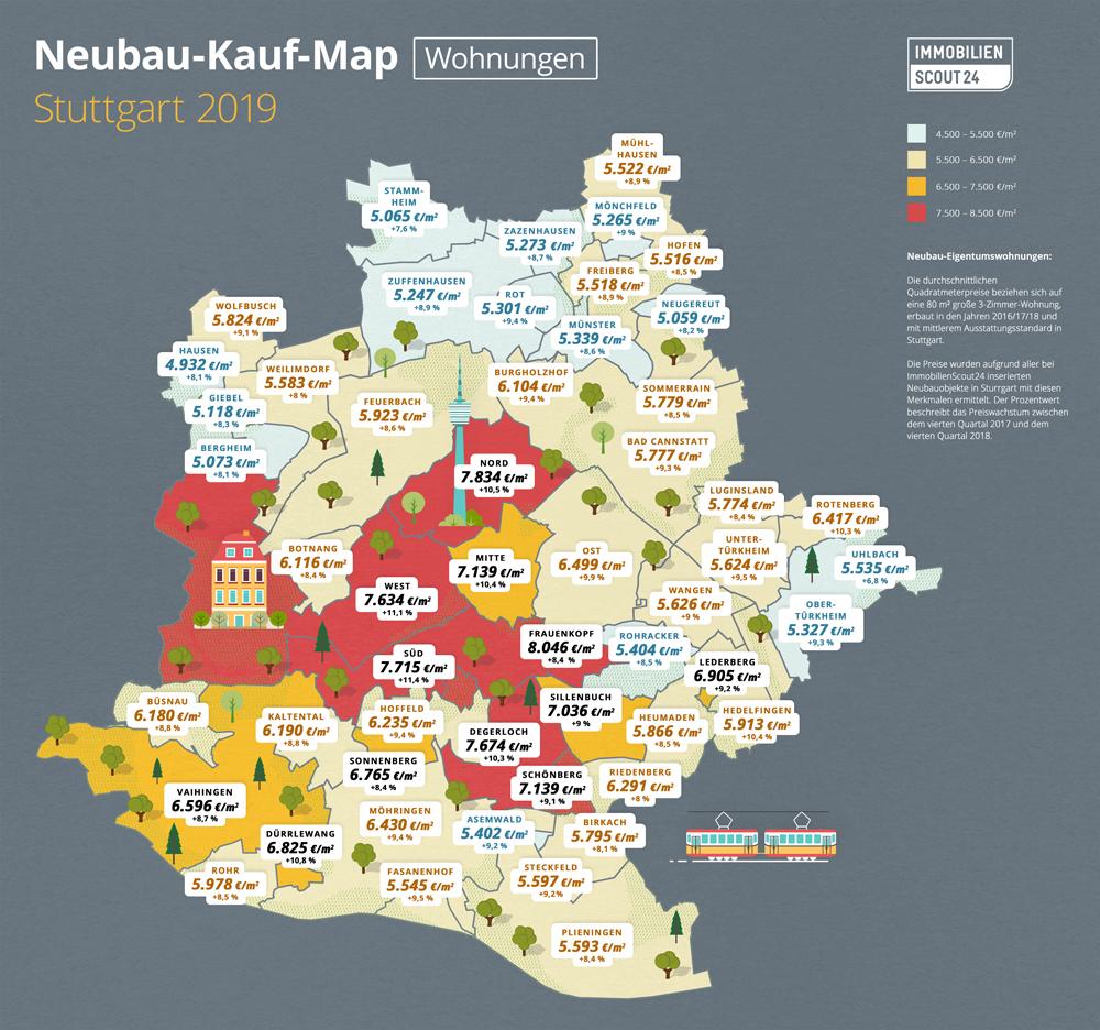 Neubau-Kauf-Map Wohnungen Stuttgart2019