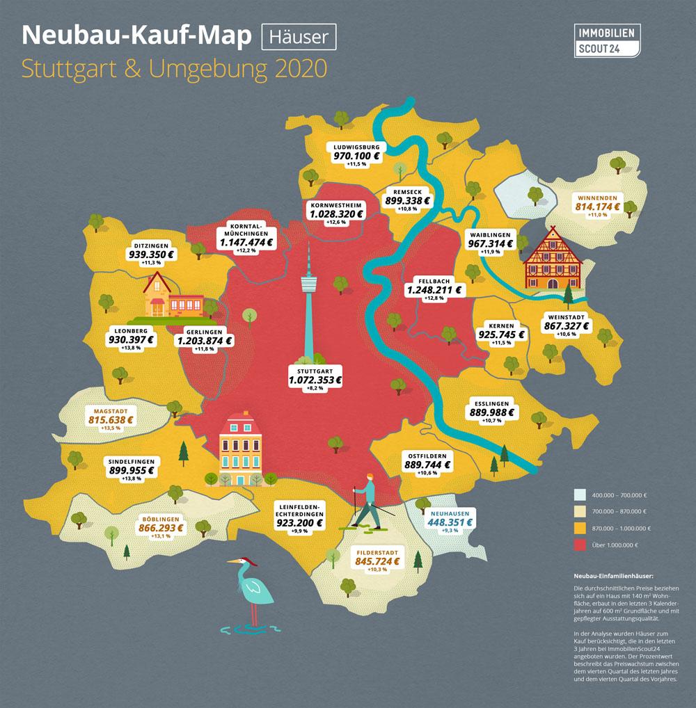 Neubau-Kauf-Map Wohnungen Stuttgart 2020