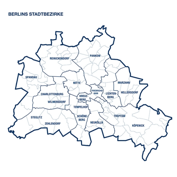 Stadtbezirke in Berlin