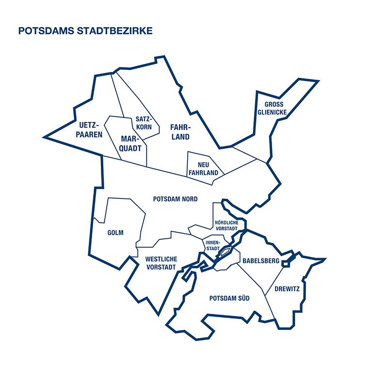 Potsdams Stadtbezirke