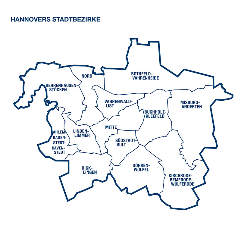 Hannovers Stadtbezirke