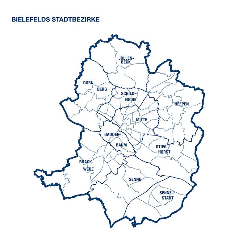 Bielefelds Stadtbezirke