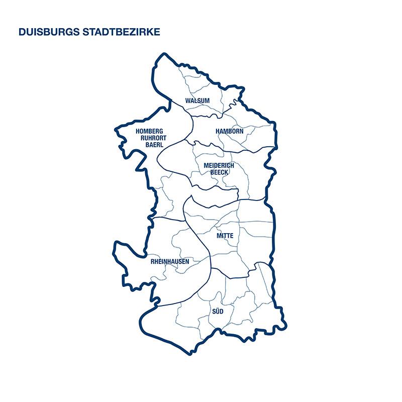 Duisburgs Stadtbezirke