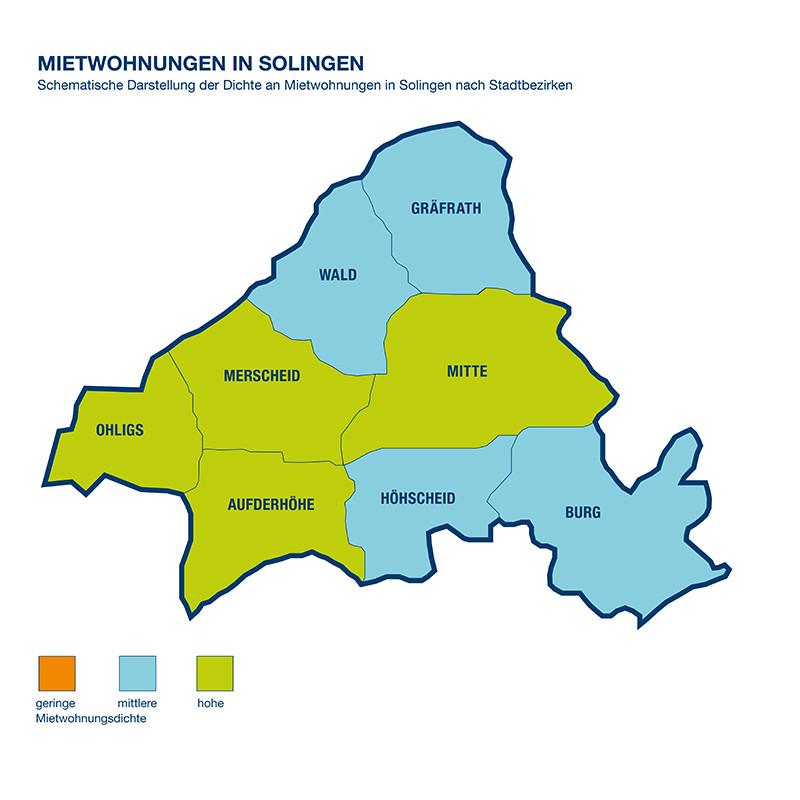 Solingens Stadtbezirke