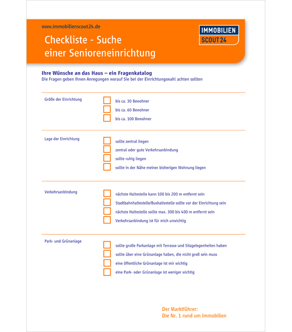 Wohnung Mieten Checkliste : senioreneinrichtung checkliste ~ A.2002-acura-tl-radio.info Haus und Dekorationen